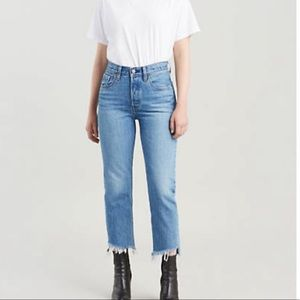 Levi's 501 Original Cropped Jeans in Call Me Crazy